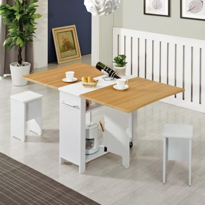 [랜선할인]폴딩 테이블 식탁(멤브레인)+의자2개 KD471