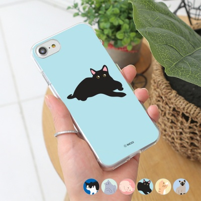 [아이폰8] 마이캣 투명젤리 케이스
