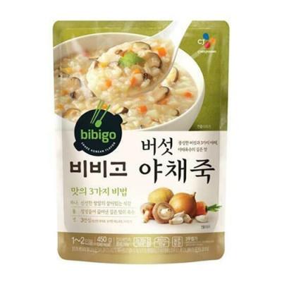 [CJ제일제당] 비비고 버섯야채죽 450gx3팩