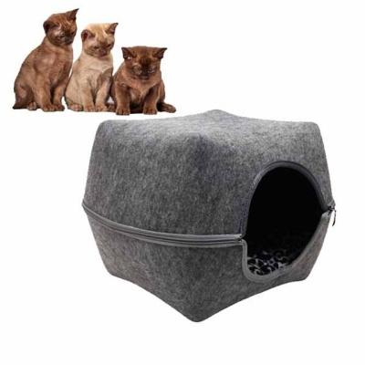 고양이 하우스 큐브 하우스 고양이집(그레이)