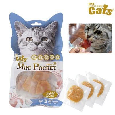 더캣츠 그대로 미니포켓 치킨 12p (고양이간식)