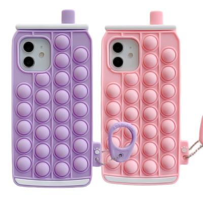 아이폰 12 11 pro max 캔모양 버블 젤리 팝잇 케이스