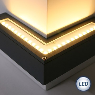 LED 외부 코너 벽등 12W (다크그레이)