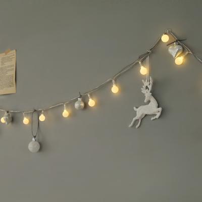 실버 화이트사슴가랜드 + LED전구set [3size]