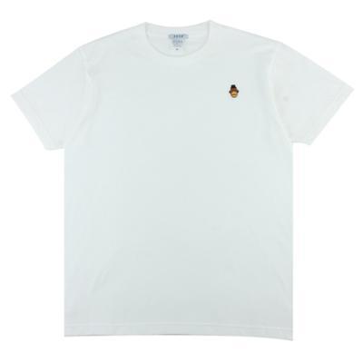 [알슨] #AR-SS002 캐릭터자수 반팔 티셔츠 (WHITE)