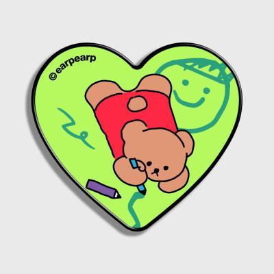 Doodle bear-green(하트톡)
