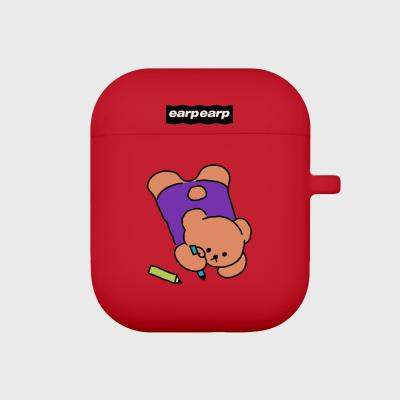 Doodle bear-red(Air pods)