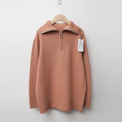 Maille Cashmere Wool Turtle Zip-Up Sweater
