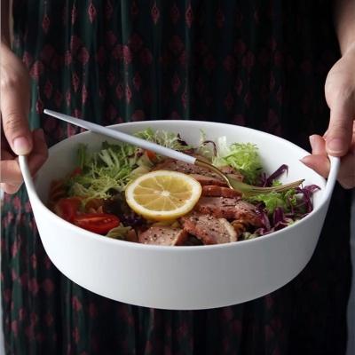 원형 손잡이 세라믹 그릇 샐러드 접시