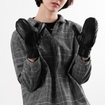 여성 벙어리 가죽장갑