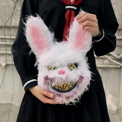 미친 토끼 할로윈 가면 코스프레 호러 코스튬 마스크