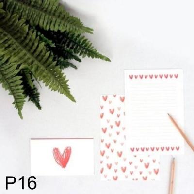 DNF 사랑스러운 하트 편지지 하트홀릭 P16 1개