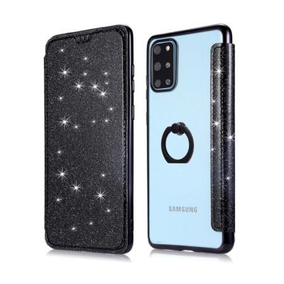 아이폰SE2 8 7+ 핑거링 글리터 카드 지갑 투명 케이스