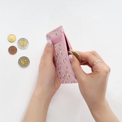 핑크풋 꽃길 목걸이카드지갑