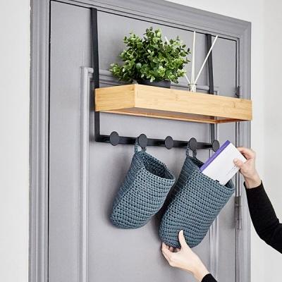 [노바리빙] 다용도 대나무 문/벽걸이 선반