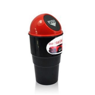 자동차 휴지통 레드 쓰레기통 수납용품 차량용품