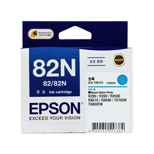 엡손(EPSON) 잉크 C13T112270 / NO.82N / 청록 / Stylus Photo R290,R390,RX590,RX610,RX690,T50,TX650,TX700W,TX720WD,TX800FW,TX820FWD