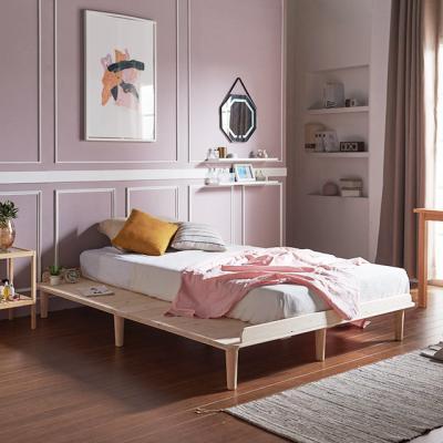 [채우리] 로터스 소나무 원목 침대 프레임/깔판 K