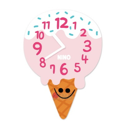 니노타임 아크릴 벽시계아이스크림 (소) NTMA-121