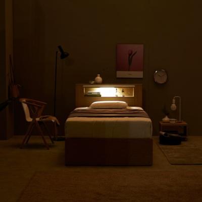 밀라니 LED 4단 침대 SS (매트리스 미포함)