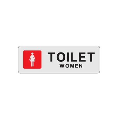 TOILET women 화장실 32OZ02 안내 표지판 여자 사인 O