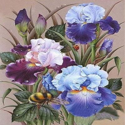 [피포페인팅]GX5941 Blue flower size 40*50cm