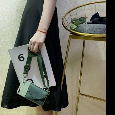 아이폰 12 미니 프로 맥스 가죽 지갑 목걸이줄 케이스