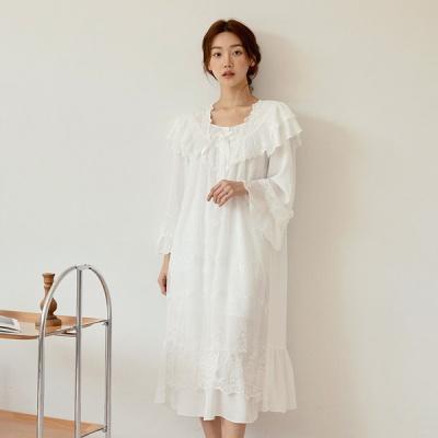 [쿠비카]프리미엄 망사 샤틴 원피스 여성잠옷W827