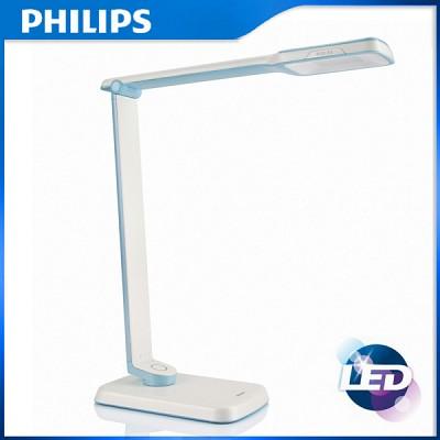 필립스 고급형 LED 스탠드 스페이드플러스 71663/블루 [허니콤렌즈/눈부심방지/USB단자/버튼형스위치]