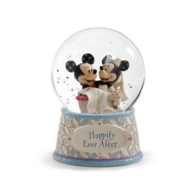 디즈니 미키미니웨딩 피규어 스노우볼 12cm-G4059185