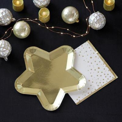 골드 별모양 종이접시 Gold Star paper plates TT