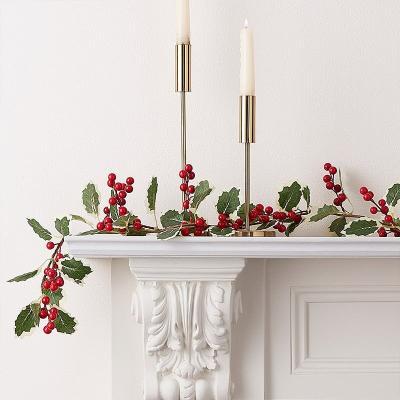 [빛나파티]홀리 빨간열매 조화 넝쿨 가랜드 Christmas