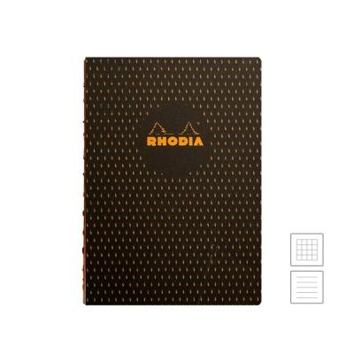 [로디아] 헤리티지 노출바인딩 노트 A5 무슈추어 블랙 (줄지/격자)