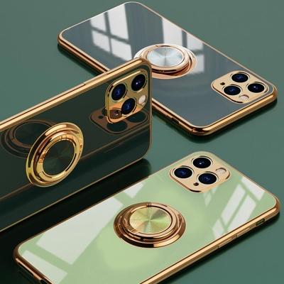아이폰11 PRO MAX 핑거링 거치대 유광 실리콘 케이스