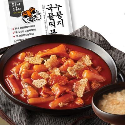 호룽이 누룽지 국물 떡볶이 520g (2인분)
