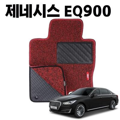 EQ900 이중 코일 차량 차 발 깔판 바닥 카 매트 Red