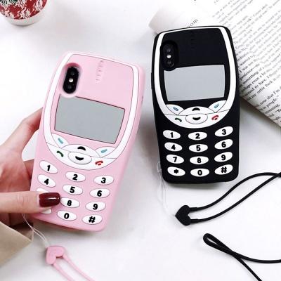 아이폰 se2 7 8 플러스 레트로 핸드폰줄 스트랩케이스