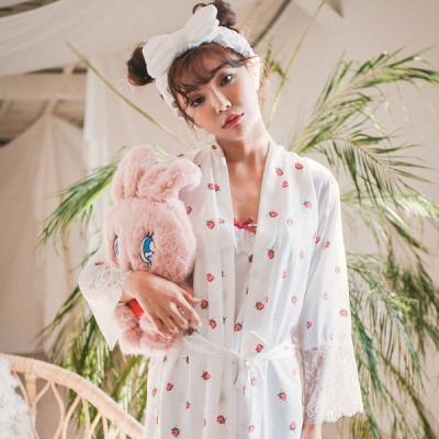 [쿠비카]러블리 딸기 DTY 앙상블세트 커플잠옷 WM155