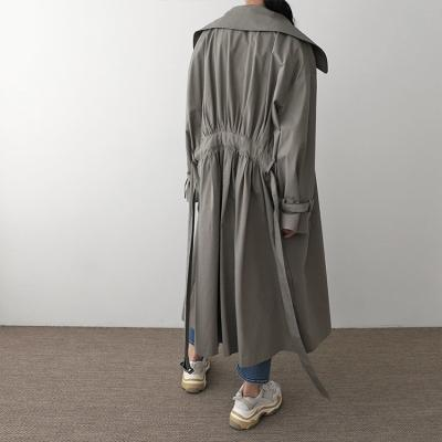 Stephanie Shirring Trench Jacket