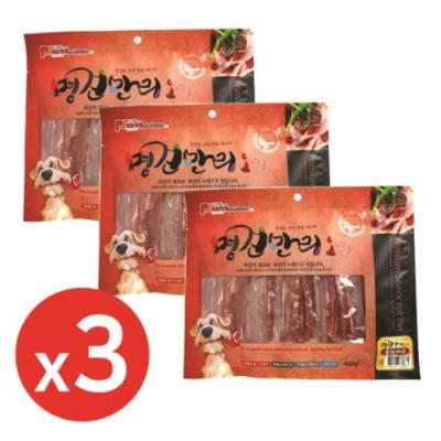 명견만리400g 오리슬라이스 x3개 강아지간식