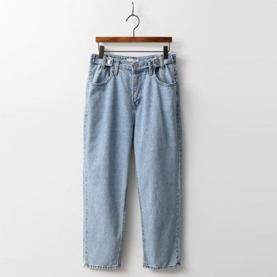 Button Loose Straight Jeans
