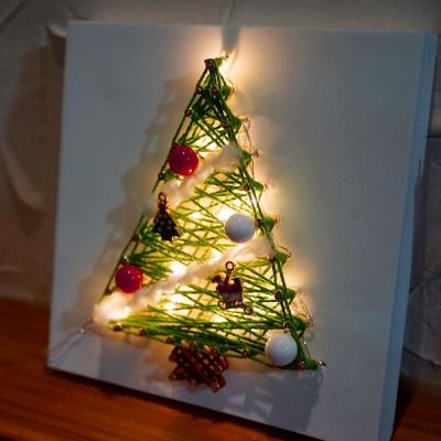 LED 꼬마 트리 스트링아트 만들기 패키지 DIY