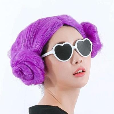 양머리가발(퍼플) 이벤트파티용품 분장가발 파티소품