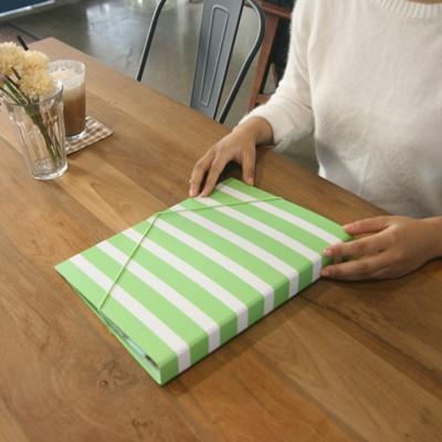 월화수목 바로펀치3공바인더 - 월요일엔 Kiwi stripe