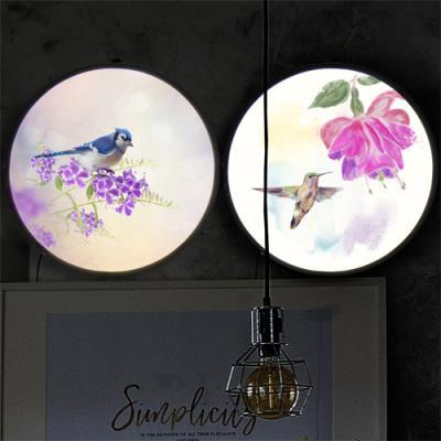nh158-LED액자35R_아름다운꽃과새그림