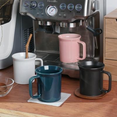 로스 도자기 머그잔 380ml 4color 홈카페 컵