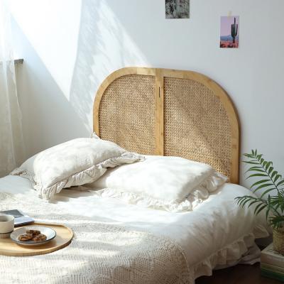 L.O.T 라탄 우든 싱글 저상형 침대 헤드보드 파티션