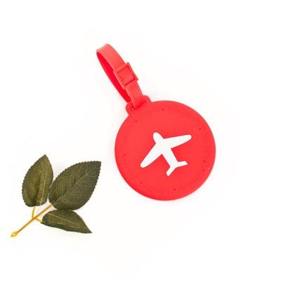 레드 라운드 비행기 트래블 네임택