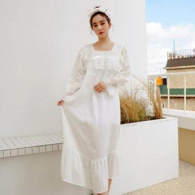 [쿠비카]바스트 전면 레이스 원피스 여성잠옷 W646