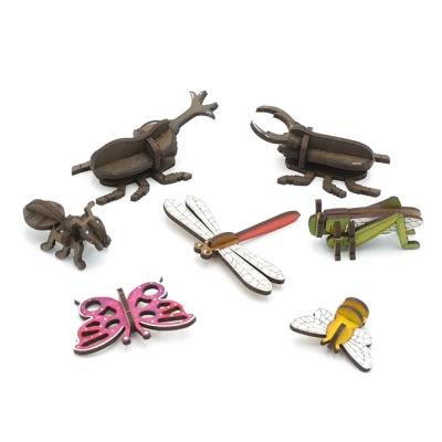 3D입체퍼즐 나무퍼즐 곤충시리즈 7종 만들기 수업 놀이키트 장난감 집콕놀이 취미